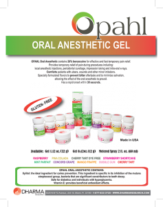 Opahl Topical Anesthetics