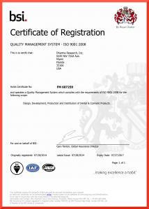 FM 607259 Certificate